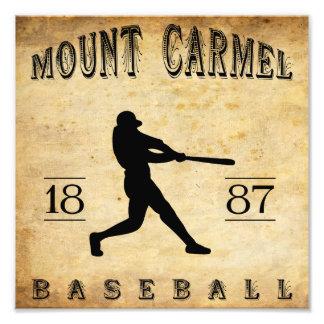 1887 Mount Carmel Pennsylvania Baseball Photograph