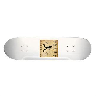 1887 Perry New York Baseball Skate Deck