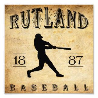 1887 Rutland Vermont Baseball Photo Print
