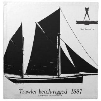 1887 trawler ketch-rigged - tony fernandes napkin