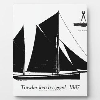 1887 trawler ketch-rigged - tony fernandes plaque