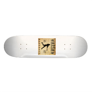 1887 Warsaw New York Baseball Skate Board Decks