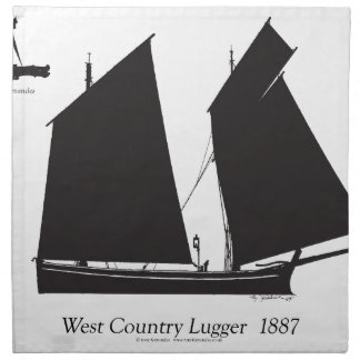 1887 west country lugger - tony fernandes napkin