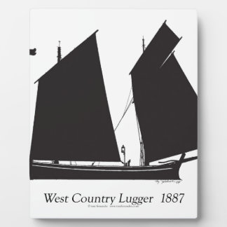 1887 west country lugger - tony fernandes plaque