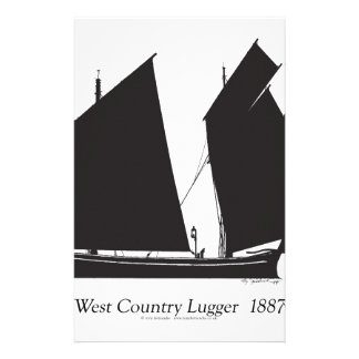 1887 west country lugger - tony fernandes stationery
