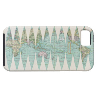 1887 World Map iPhone 5 Cases