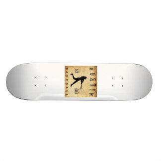 1888 Austin Texas Baseball Skate Board Deck