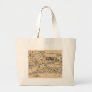 1888_Old_Colony_Railroad_Cape_Cod_map Large Tote Bag