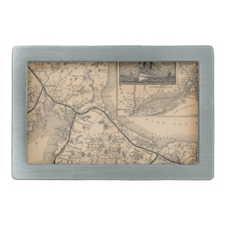 1888_Old_Colony_Railroad_Cape_Cod_map Rectangular Belt Buckle