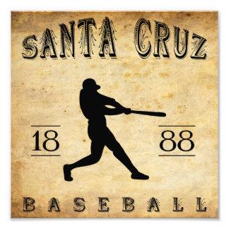 1888 Santa Cruz California Baseball Art Photo