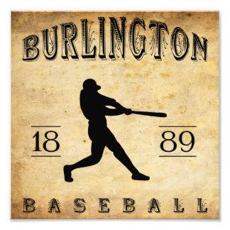 1889 Burlington Iowa Baseball Photograph