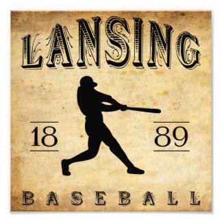 1889 Lansing Michigan Baseball Photographic Print