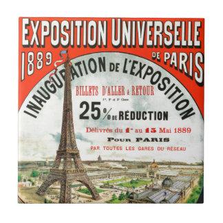 1889 Paris world Fair Eiffel Tower Vintage poster Ceramic Tile