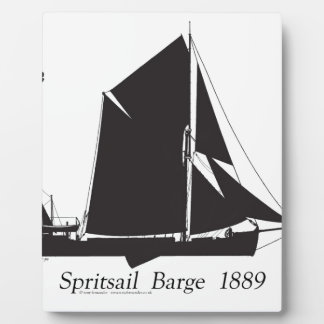 1889 spritsail barge - tony fernandes plaque