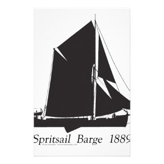1889 spritsail barge - tony fernandes stationery
