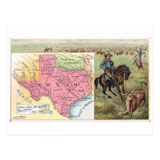 1889 Texas Vintage Trading Card Postcard