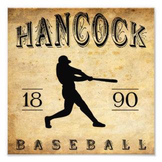 1890 Hancock Michigan Baseball Photographic Print