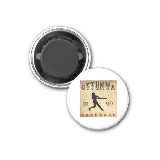 1890 Ottumwa Iowa Baseball 3 Cm Round Magnet