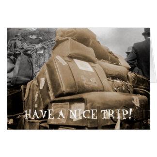 1890 Travel Luggage on Wagon Trip Teamster Photo Card