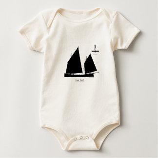 1890 yawl - tony fernandes baby bodysuit