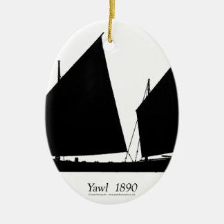 1890 yawl - tony fernandes ceramic ornament