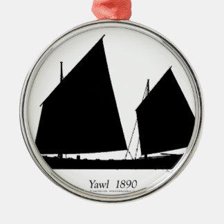 1890 yawl - tony fernandes metal ornament