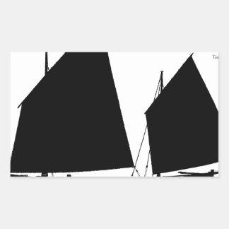 1890 yawl - tony fernandes rectangular sticker