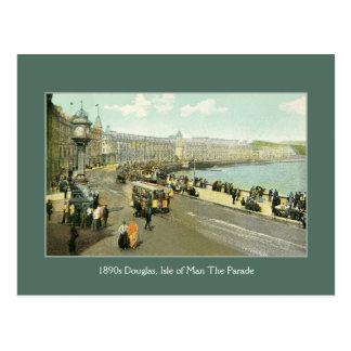 1890s Isle of Man, Douglas, The Parade Postcard
