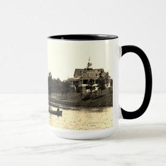 1890's Lords Park Elgin Illinois Lagoon Pavilion Mug