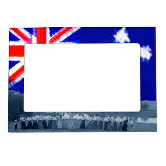 1890's Women Tug-O-War Tug of War Australia Flag Magnetic Frame