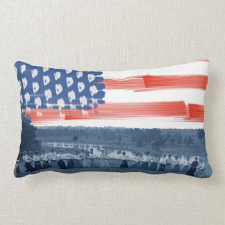1890's  Women Tug of War Tug-O-War American Flag Lumbar Cushion