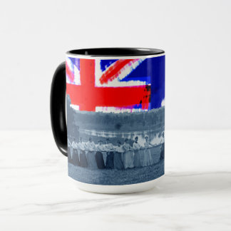 1890's  Women Tug of War Tug-O-War Australia Flag Mug