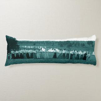 1890's Women Woman Tug-O-War Fox River green Body Cushion