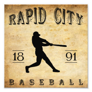 1891 Rapid City South Dakota Baseball Art Photo