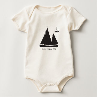 1891 sailing lifeboat - tony fernandes baby bodysuit