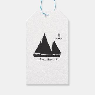 1891 sailing lifeboat - tony fernandes gift tags