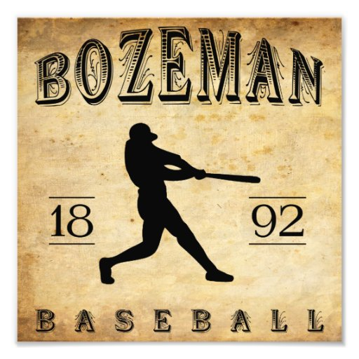 1892 Bozeman Montana Baseball Photo Art