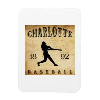 1892 Charlotte North Carolina Baseball Rectangle Magnet