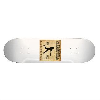 1892 Clearfield Pennsylvania Baseball Custom Skateboard