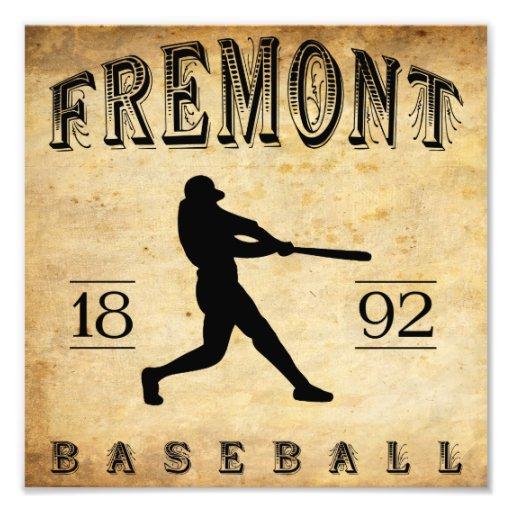 1892 Fremont Nebraska Baseball Photograph