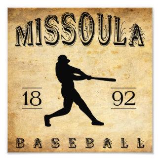 1892 Missoula Montana Baseball Photograph