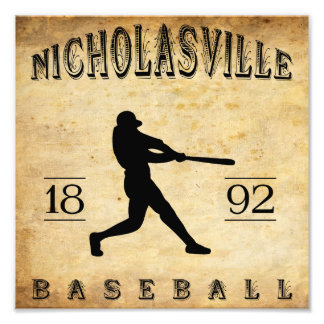1892 Nicholasville Kentucky Baseball Photo Print