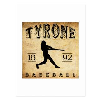 1892 Tyrone Pennsylvania Baseball Postcard