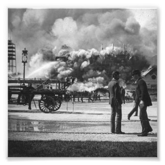 1892 WORLD COLUMBIAN EXPOSITION FIRE GLASS SLIDE PHOTOGRAPHIC PRINT
