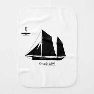 1893 sailing smack - tony fernandes burp cloth