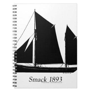 1893 sailing smack - tony fernandes spiral notebooks