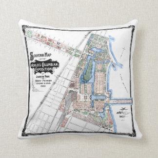 1893 World's Columbian Exposition - Throw Pillow