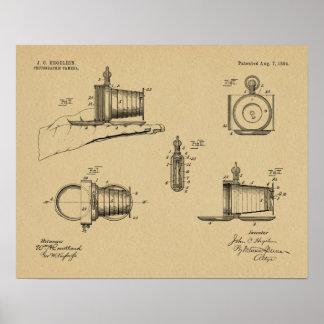 1894 Pocket Camera Patent Art Drawing Print