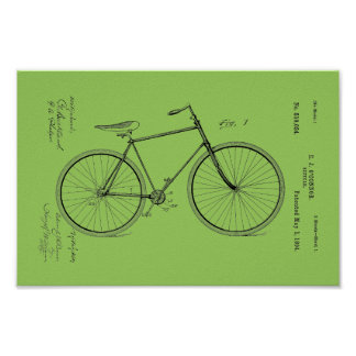 1894 Vintage Bicycle Patent Print Customize