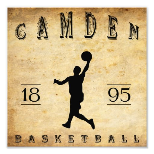 1895 Camden New Jersey Basketball Photographic Print